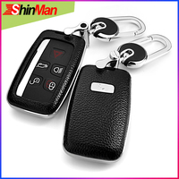 ShinMan 6color Top Layer Leather + ABS Car leather key cover For Jaguar XE XJ XJL XF XF C X16 V12 guitar F X type Key Case shell