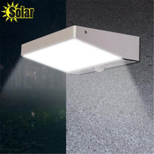 Горячая 4 Вт 600LM 48 Solar Power LED Street Light PIR Motion Sensor Light Сад Безопасность Лампы Открытый Уличный Водонепроницаемый Стены огни