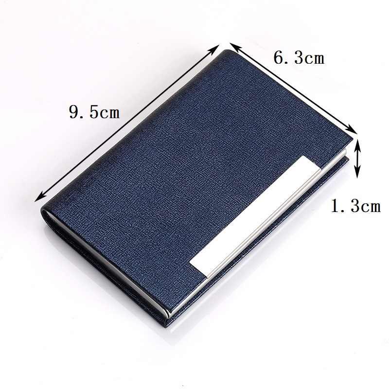BYCOBECY nowa saszetka męska na karty moda damska duża pojemność Bank nazwa kredytowa wizytówka metalowa obudowa klasyczne stalowe poręczne pudełko kartonowe