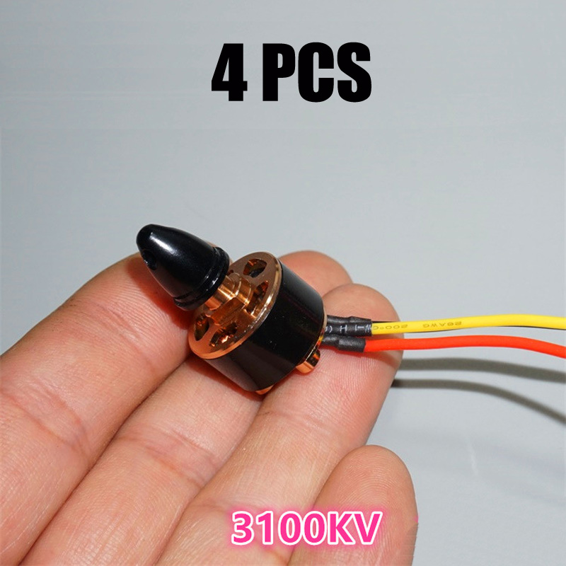 4PCS 1306 Micro Brushless Motor FPV 3100KV with Prop Adapter for Positive Propeller RC Drone FPV Quadcopter Multicopter Parts