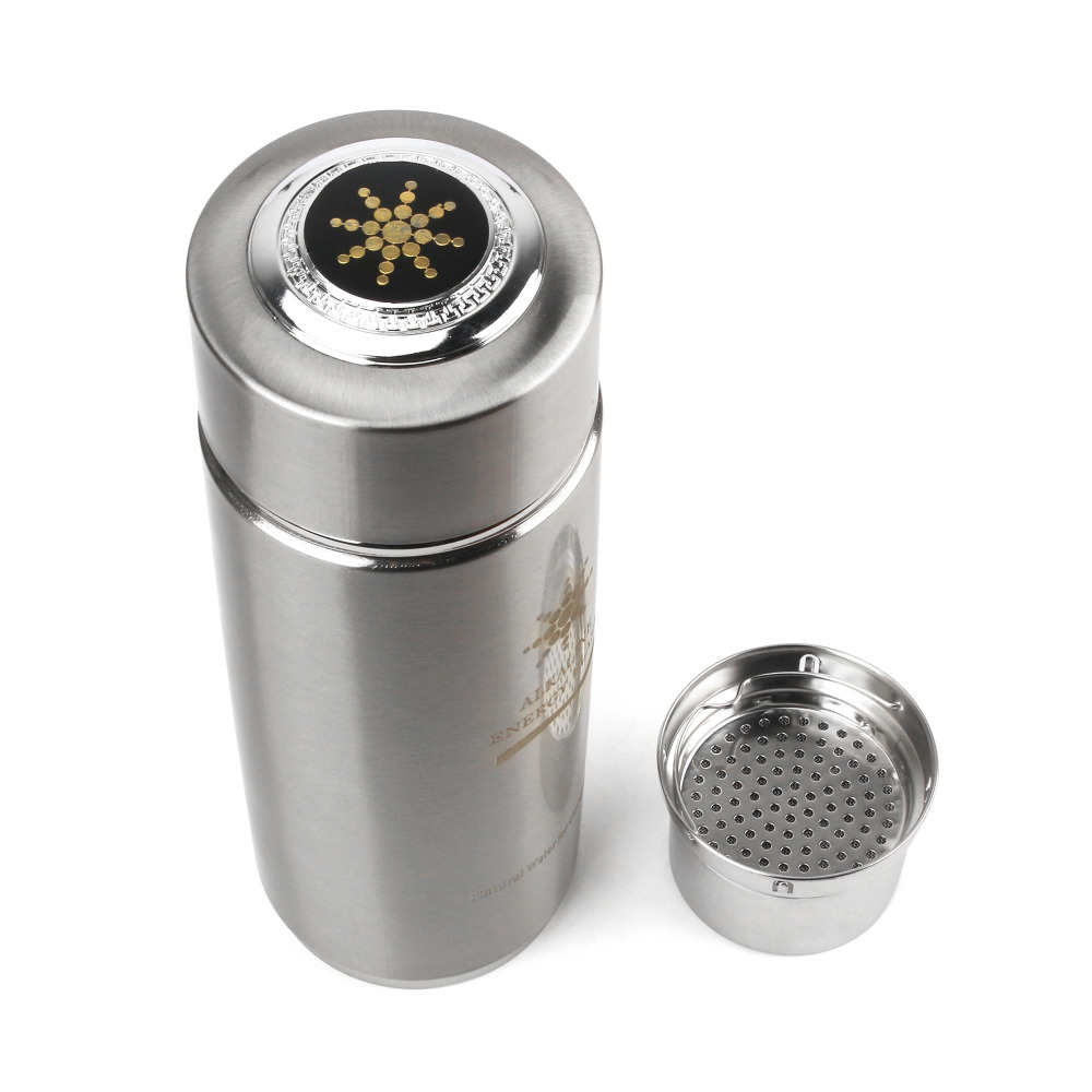 Hidrógeno alcalino negativo Ion ionizador de agua Botellas nano energía Matraces Tazas filtro de agua diario cuidado de la salud con filtro 400 ml