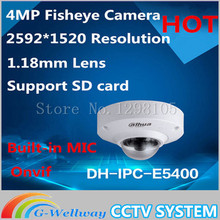 Dahua IPC-EB5400 4 MP Full HD 1080P PoE WDR Panorama 360 Degree Fisheye Dome Network IP Camera built-in MIC support SD card