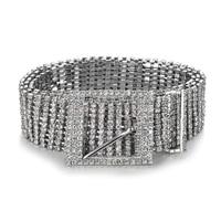 Marca catena di metallo cinture Donna Diamante di cristallo Catena Cintura Piena di Strass sposa Cinghia di Vita larga Bling Femminile