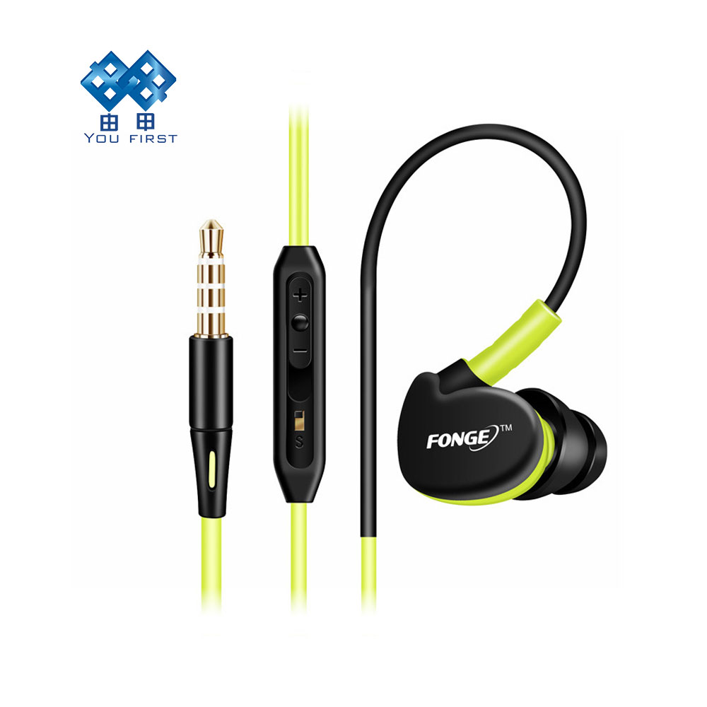Sports Earphones Wired Waterproof Noise Cancelling Headset Hand Free With Microphone Ear Hook IPX In Ear For Mobile Phone iPhone magift bluetooth headphones wireless wired headset with microphone for sports mobile phone laptop free russia local delivery hot