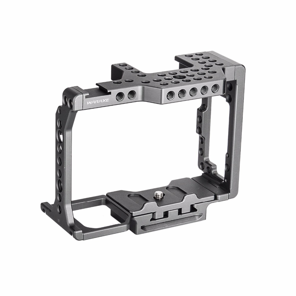 productimage-picture-waraxe-a7-kit-camera-cage-built-in-quick-release-fits-arca-swiss-for-sony-a7-a7r-a7s-a7-ii-a7r-ii-a7s-ii-with-nato-rail-handle-grip-and-1-4-98408