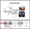 SYMA X5SW FPV RC Quadcopter Drone con Cámara WIFI hd 2.4G Dron 6-Axis RC Juguetes Helicóptero Con Plena Capacidad 3 Batería VS H8C