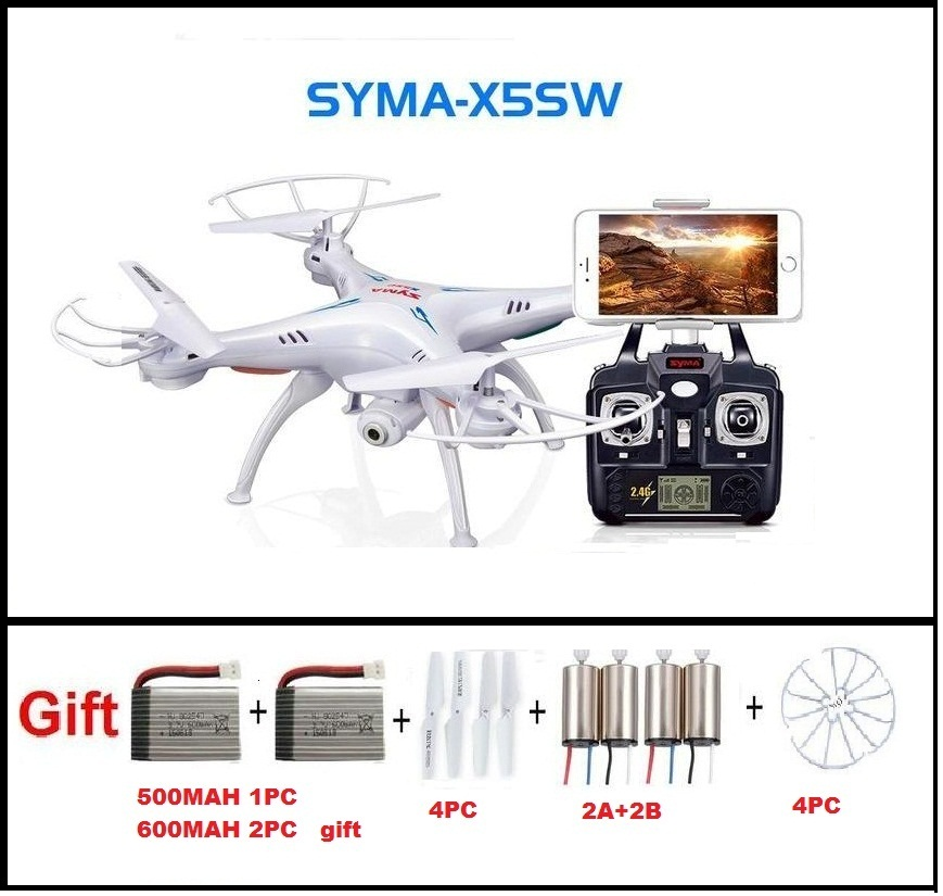 SYMA X5SW FPV RC Quadcopter Drone with WIFI Camera hd 2.4G 6-Axis Dron RC Helicopter Toys With Full Capacity 3 Battery VS H8C