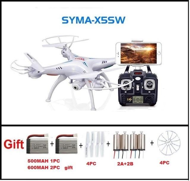 SYMA X5SW FPV RC Quadcopter Zangão com Câmera WI-FI hd 2.4G Dron 6-Axis RC Brinquedos Helicóptero Com Plena Capacidade 3 Bateria VS H8C