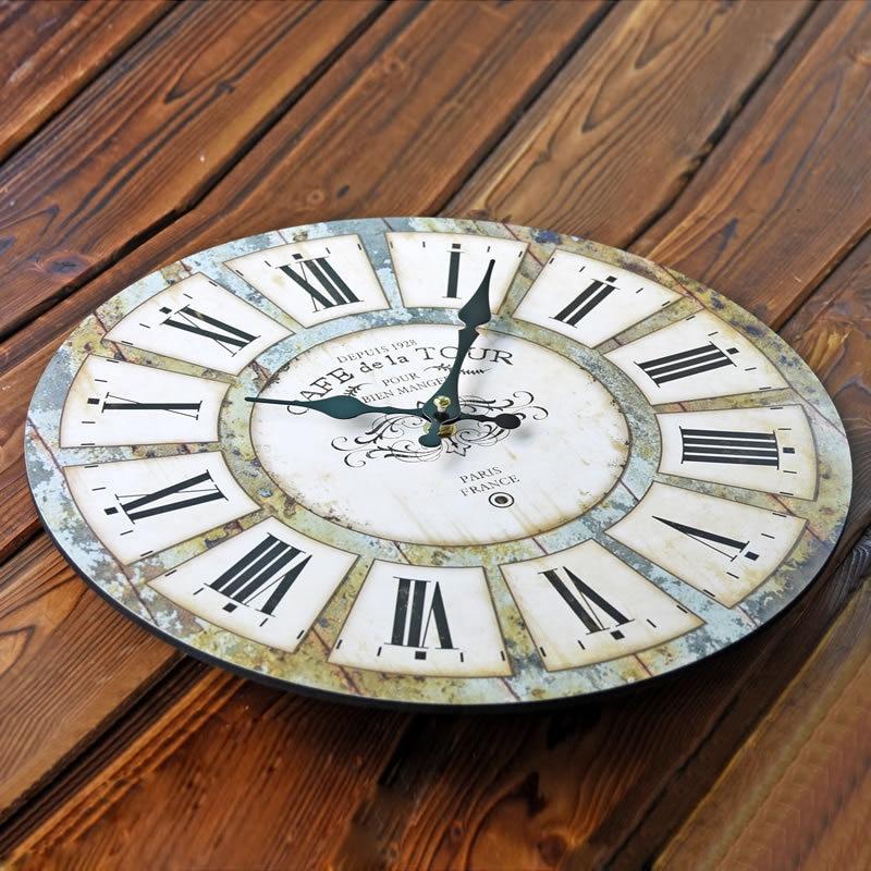 Nostalgia creativa Roma gran pared reloj de cuarzo cocina soporte ...
