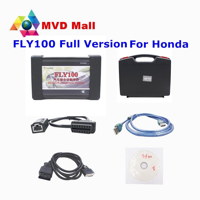 Цена за Профессиональная для Honda FLY100 Сканер Полная версия Полный Функция FLY 100 ключевое программирования + коррекция одометра + инструмент диагностики