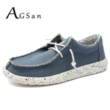 AGSan Men Hemp Shoes Big Size 39-48 Casual Shoes Vintage Men