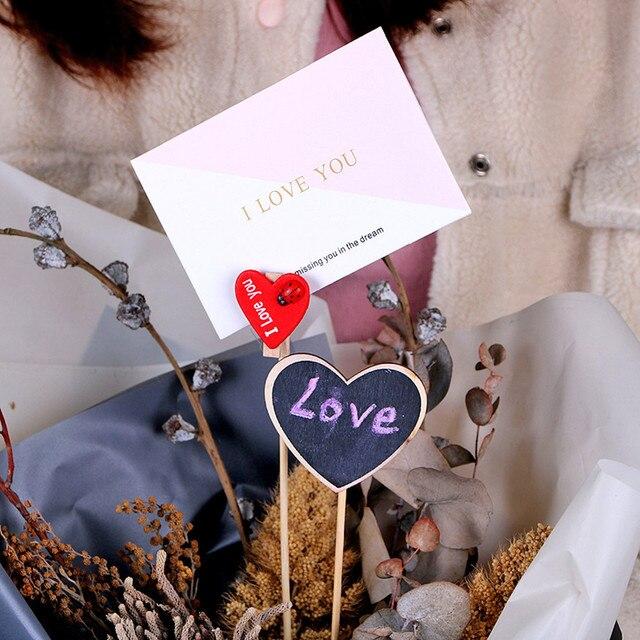 Florist Bouquet Gift Card Holders Long Stick Clipper Flower Gift