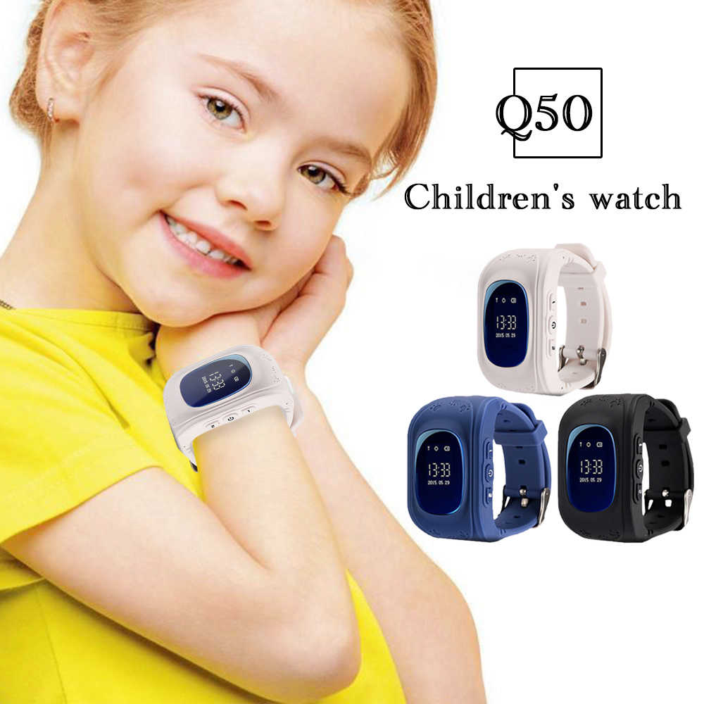 Timethinker Q50 Smart Watches Kids GPS Watch SOS SIM Card Relogio Child Smartwatch Anti-lost Spanish Baby Wristwatch vs Q90 Q60