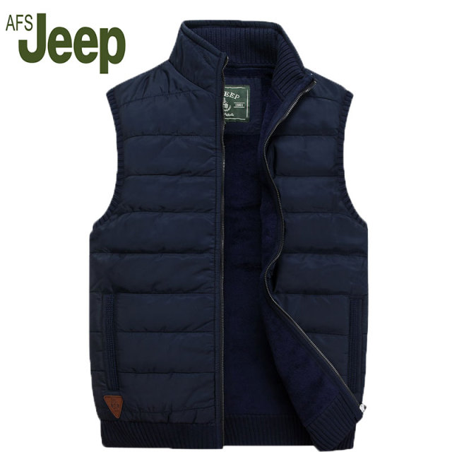 AFS JEEP 2016 Jeep Battlefield new winter men's fashion casual men's  vest vest warm thick down jacket vest 140