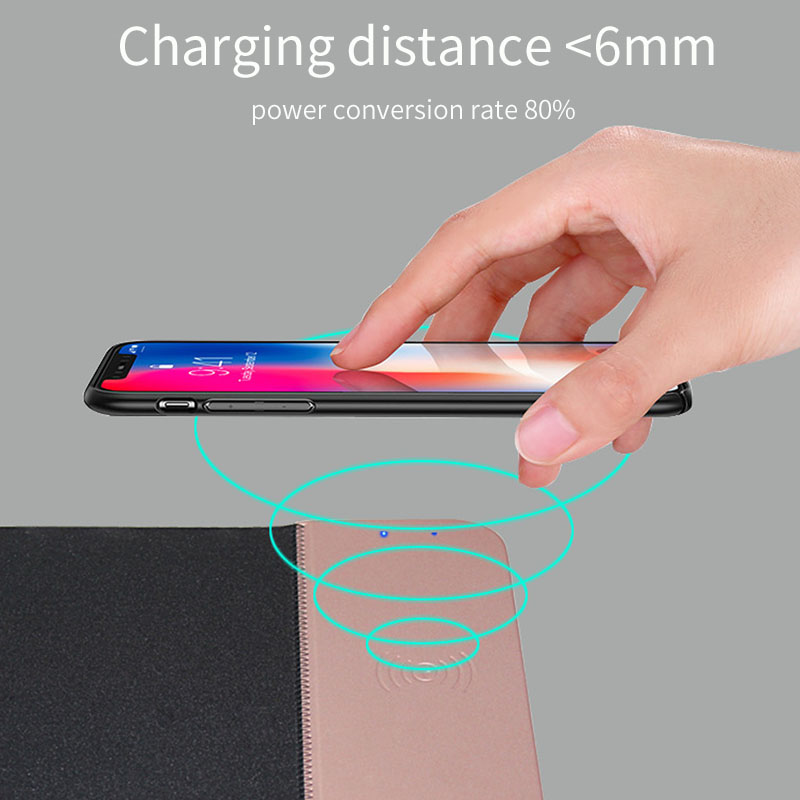 Rosinop 10W Fast Wireless Charger For iphone xr x xs max 8 5W QI chargeur induction Auto Charging Pad For samsung s9 s8 note 8 9 in Mobile Phone Chargers from Cellphones Telecommunications