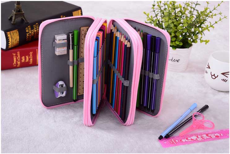 Pencil Case Pouch Painting Pen Box Multifunction Cosmetic Brush Pencil Bags school office supplies цена