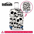 White Skull Printing Luggage Protectors for Duffle Waterproof Suitcase Cover for 18-30 inch Cool Elastic Luggage Cover for Men