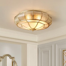 Nordic round led ceiling lamp home bedroom simple kitchen study copper hanging