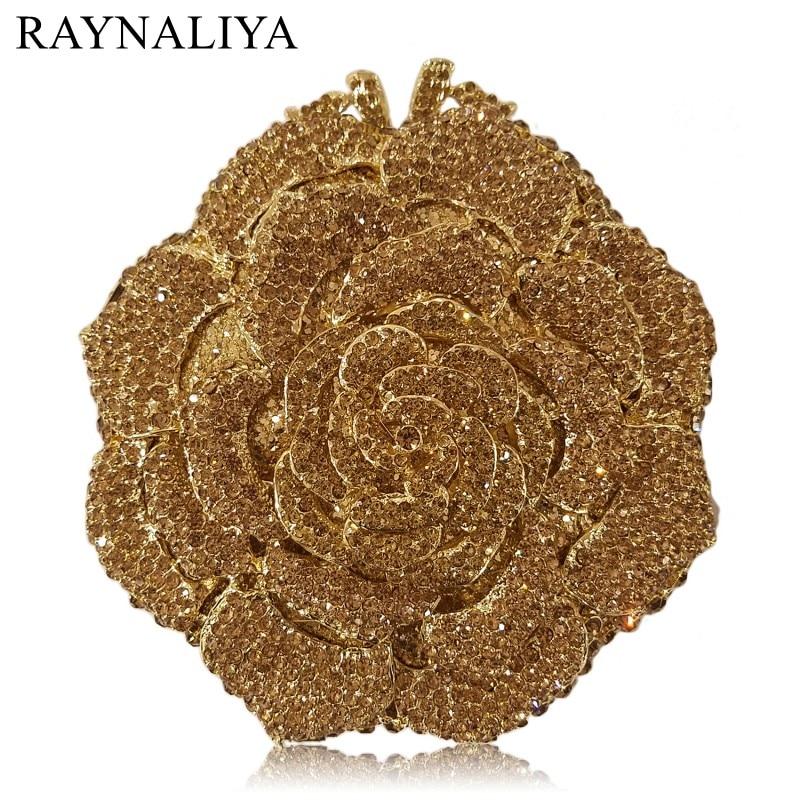 Black Rose Bag Flower Clutch Crystal Evening Bags Women Diamond Party Dinner Wedding Clutches Handbags Bridal Purse SMYZH-E0355
