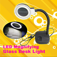 High Quality Magnifying Glass LED Light Lamp Desk Magnifying LED Table Light Magnifier WWO66