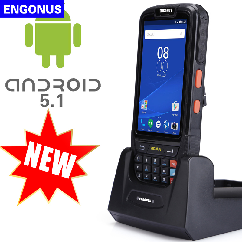 2018 new 4g scanner pda 1d 2d laser light scanner industrial Handheld android pda wifi mobile 1d barcode scanner and HF rfid