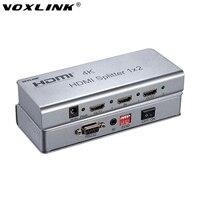 VOXLINK Ultra HD 4K Version 3D V1 4 HDMI Splitter 1x2 1 In 2 Out Support