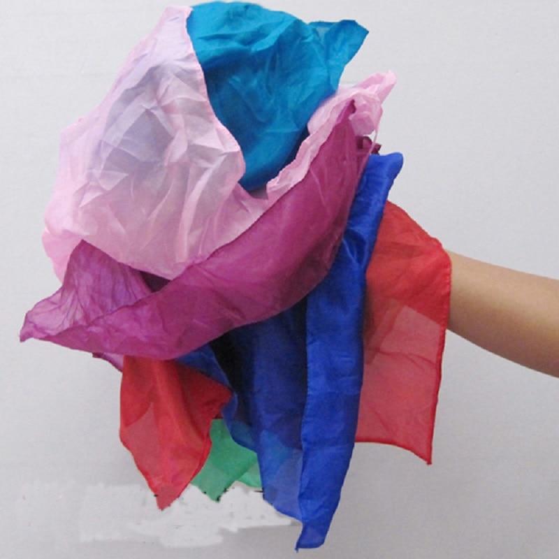 Arc-en-ciel soie Streamer 45*1000 cm Cascade soie Cascade soie fontaine magique Ultra-mince soie foulard accessoires magiques Magia tours - 2