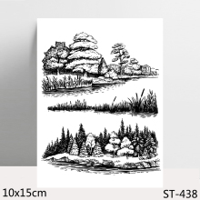 ZhuoAng Chinese Ink Painting Clear Stamps For DIY Scrapbooking/Card Making/Album Decorative Silicon Stamp Crafts zhuoang landscape painting clear stamps for diy scrapbooking card making album decorative silicon stamp crafts