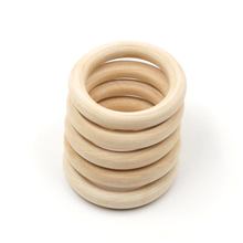 YUMUZ 65mm Fine Quality wood teething beads Wooden Ring DIY wooden Jewelry Making Crafts 5pcs