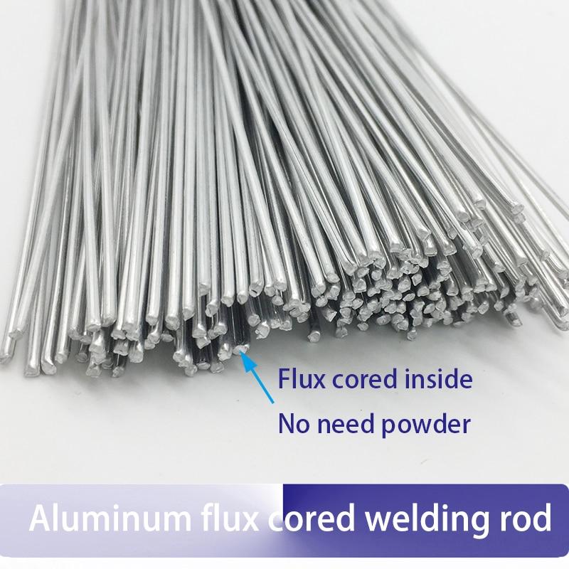 20pcs-100pcs 2mm*50cm Flux Cored Aluminum Welding Wire No Need Aluminum Powder Instead Of WE53 Copper Aluminum Welding Rod