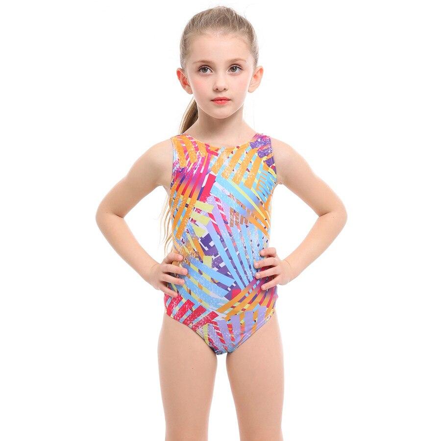 Girls Swimsuit Sports One Piece Swimwear for Girl 3-12 Years Children One Piece Bathing Suit Summer Nylon Spandex Patchwork