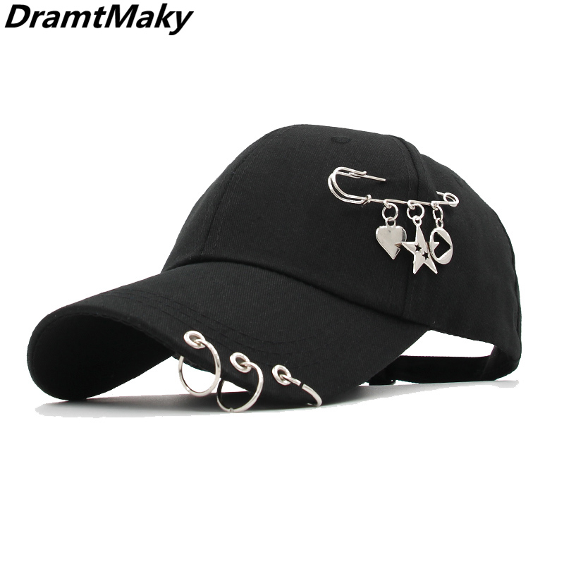 New Fashion Baseball Cap With Iron Ring For Men Women Cap HAT Baseball Cap Snapback Trucker Cap Dad Hats New Gorras Bone Gorro