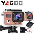 O original YAGOO câmera de ação esporte câmera à prova d' água câmera 1080 P 30fps mini wi fi cam pro sports gopro hero 4 estilosantes