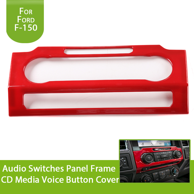 for Ford F150 F 150 2015 2016 2017 Audio Switches Panel Frame CD Media Voice Button