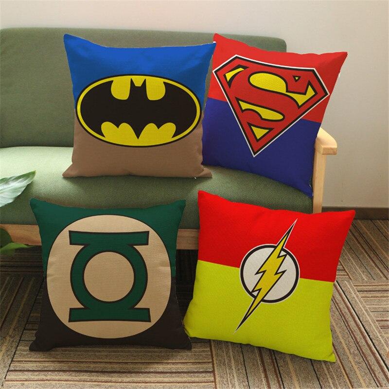 Супер Герои label Чехлы для подушек Подушки Детские случае Супермен bitman флэш-зеленый  ...