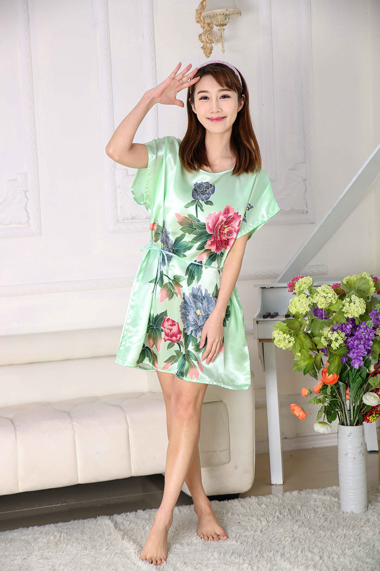 dcadbf0c95 Detail Feedback Questions about Summer Ladies Silk Satin Chinese ...