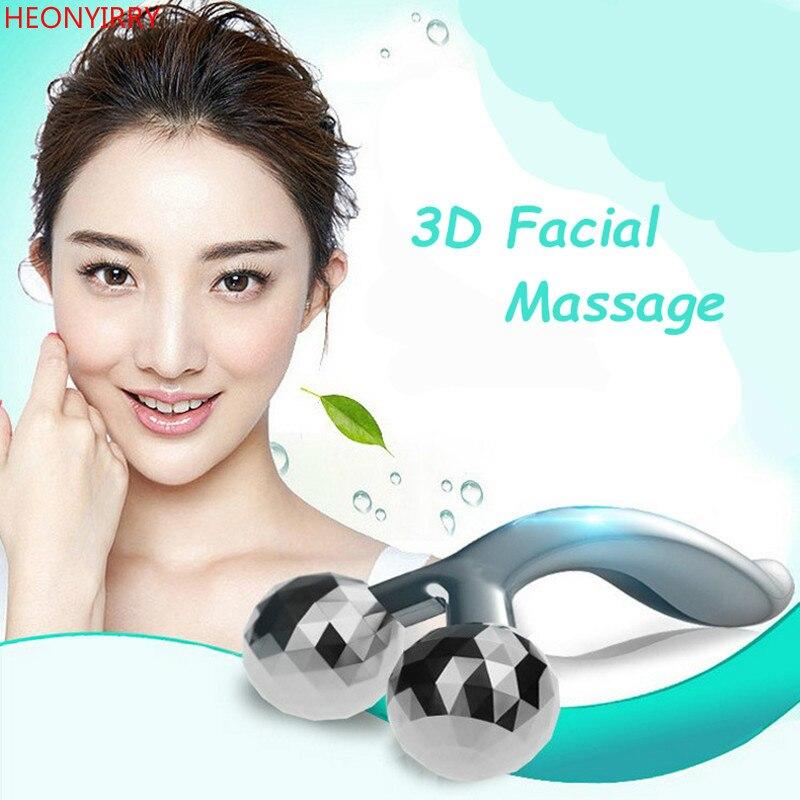 3D Dermaroller массажер для лица худое лицо для похудения всего тела Форма массажер лифтинг лица и удаления морщин кожи Красота Уход Инструмент