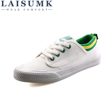 2019 LAISUMK Women Holes Canvas Shoes Famous Brand Female Casual Tails New Fashion Leisure Flats Breathable Sneakers