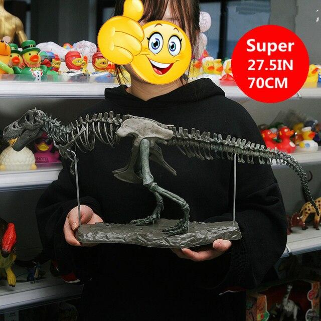 """28 """"Tyrannosaurus Rex Esqueleto do Dinossauro Modelo Animal Brinquedos de PVC T Rex Coletor de Super Caixa de Presente Decoração"""
