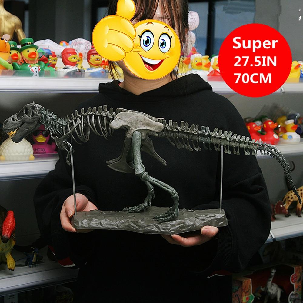"28"" Tyrannosaurus Rex Skeleton Dinosaur PVC T Rex Animal Model Toys Collector Super Decoration Gift Box"