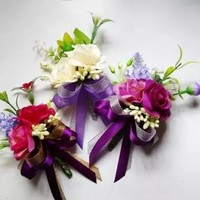 New Style Wedding Flowers Groom Boutonnieres Best Man Flower Groomsman Pin Brooch Corsage Suit Decor Accessories ForParty
