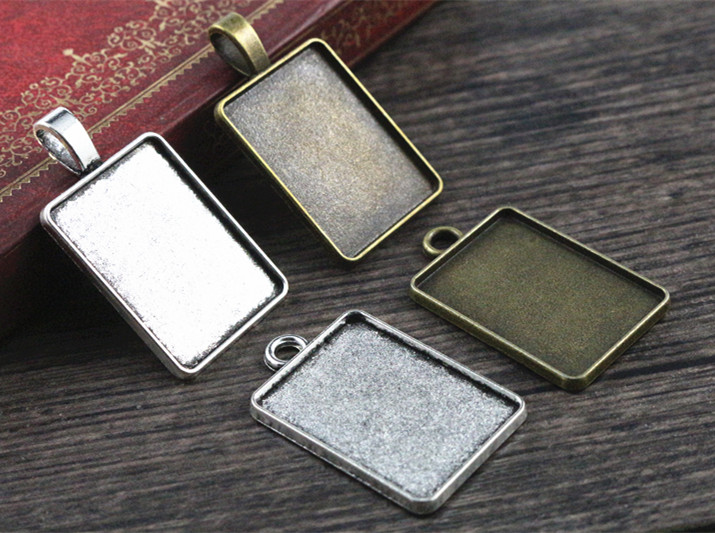 New Fashion 6pcs 18x25mm Inner Size 4 Style Rectangle Cabochon Base Setting Charms Pendant,Fit  18*25mm Square Glass CabochonsNew Fashion 6pcs 18x25mm Inner Size 4 Style Rectangle Cabochon Base Setting Charms Pendant,Fit  18*25mm Square Glass Cabochons