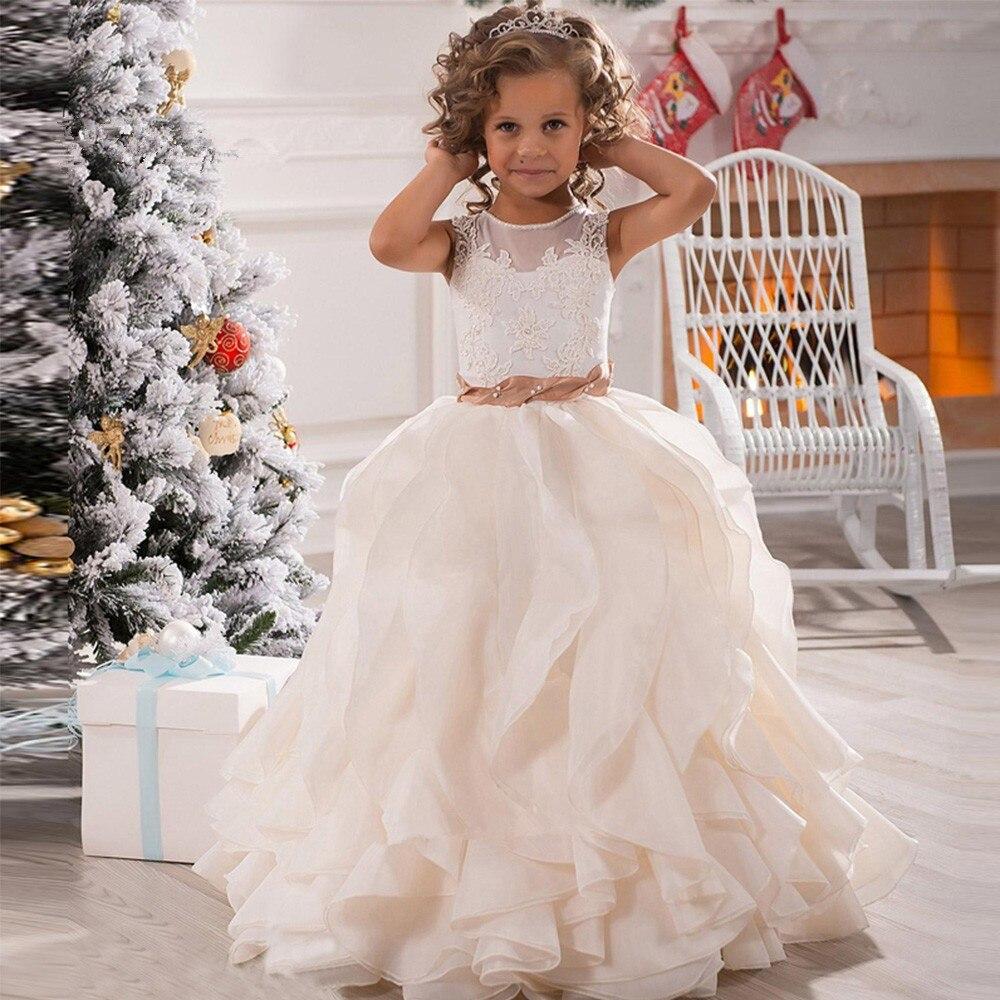 Cute Pageant   Dresses   for Little   Girls   Lace   Girls   Ball Gown   Flower     Girl     Dress   First Communion   Dress   for Gilrs Vestido de Daminha