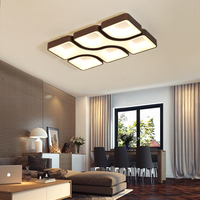 NEO Gleam White/Grey/Brown Finish Square Modern Led Ceiling Lights For Living Room Bedroom Study Room Rectangle Ceiling Lamp