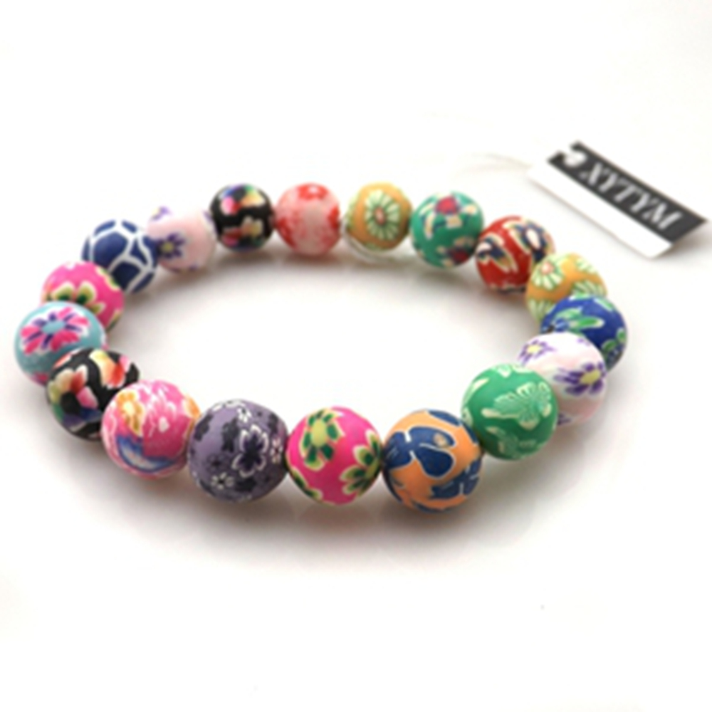 Fashion polymer clay bracelets free shipping, wholesale