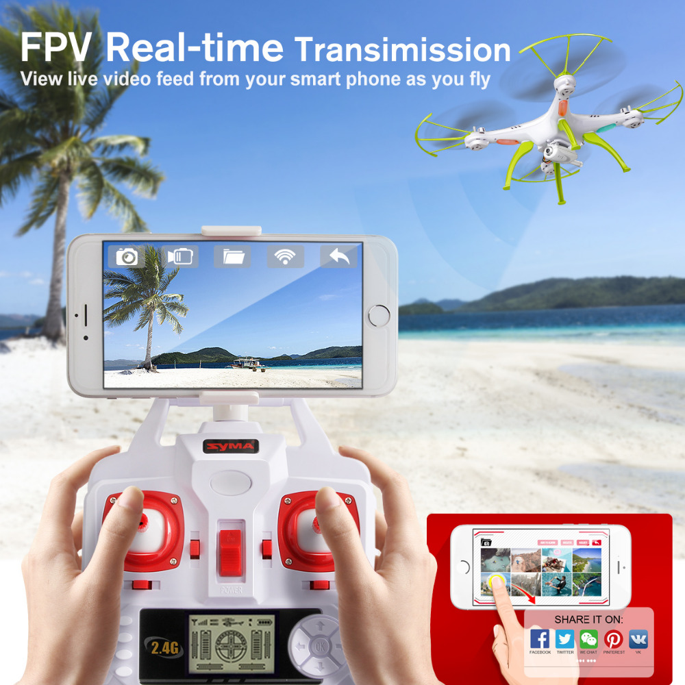 Image 2 - SYMA X5HW Selfie RC Drone With Camera Wifi FPV Transmission RC Quadcopter Helicopter Remote Controll Dron Toys For Children Boys-in RC Helicopters from Toys & Hobbies