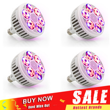 4 unids/lote lámpara Led de cultivo para plantas, 120W, fitoamplificador de espectro completo, luz LED de cultivo para semillas hidropónicas de interior, Bombilla de flores Vegs
