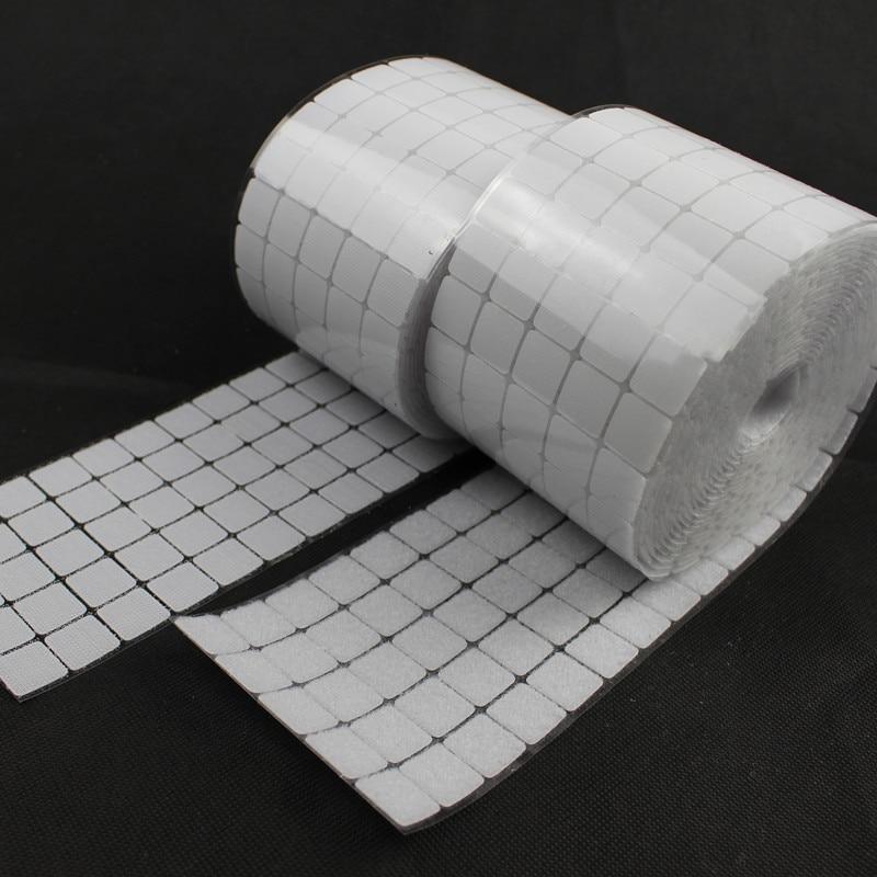 50 пар мм 20*20 мм квадратная клейкая лента нейлон полиэстер крюк и петля Волшебная наклейка лента сильная самоклеющаяся лента 2 цвета