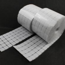 50 çift 20*20mm Kare Yapışkanlı Raptiye Bant Naylon Polyester cırt cırt Sihirli Etiket Bant Güçlü Kendinden Yapışkanlı Bant 2 renk