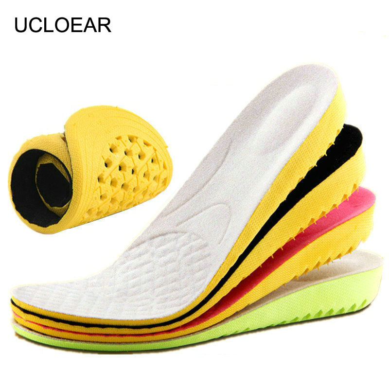 UCLOEAR Height Increase Insole Shock Absorbant Insoles For Shoes Comfortable Breathable Insoles High Quality EVA Insole Increase 2017 promotion gel insoles shock
